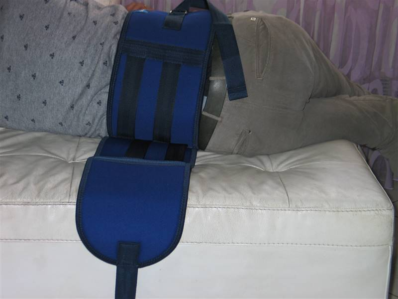 cintura di contenzione letto - come si indossa 7