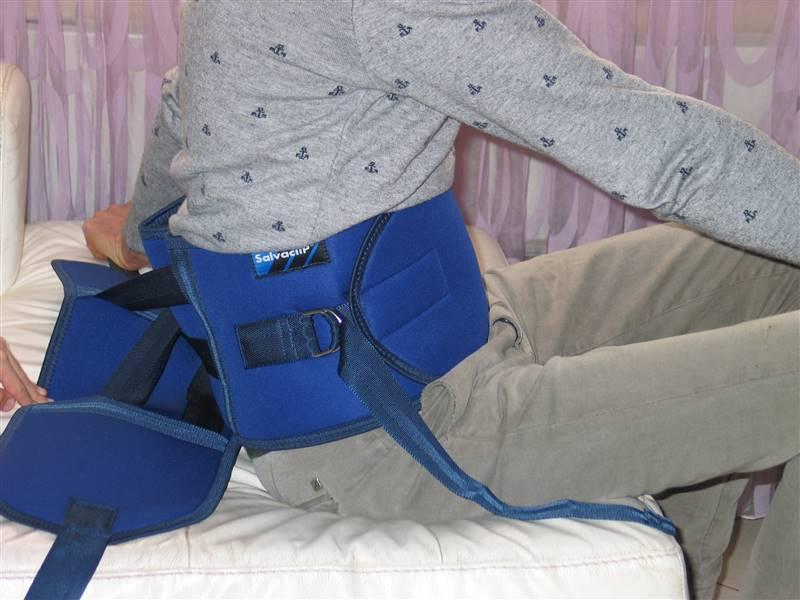 cintura di contenzione letto - come si indossa 8