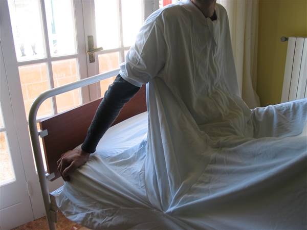 Fodera Anti abbandono del letto, vista anteriore
