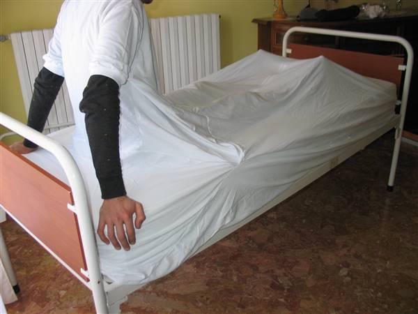 Fodera Anti abbandono del letto, vista posteriore
